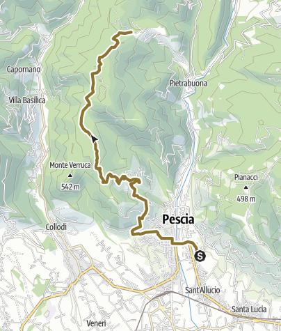 Map / Pescia Medicina via Monte a Pescia