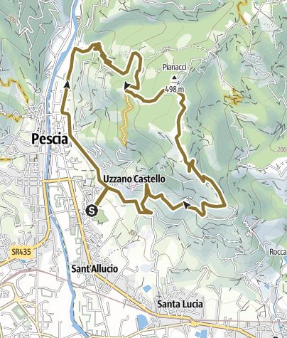 Map / Pescia Pianacci via Speri