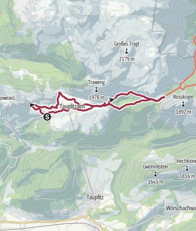 Karte / 6-Seen-Wanderung auf der Tauplitzalm