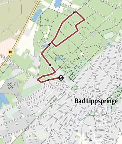 Karte / Zutrauen - Spaziergang durch den Kurwald