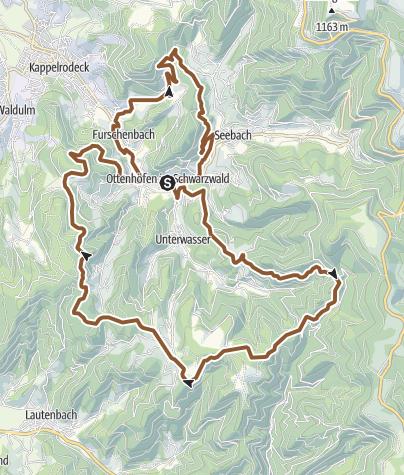 Karte / Ottenhöfen im Schwarzwald - Mühlendorf-Tour