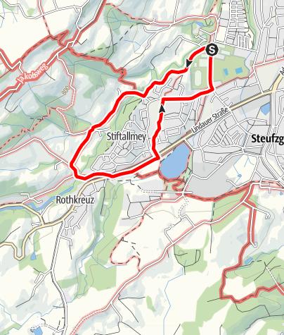 Karte / Kempten Wandertour: West