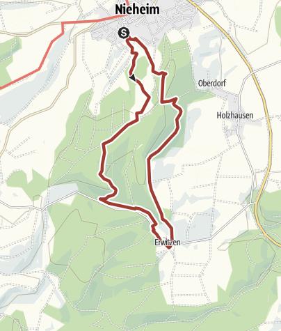 Karte / Vorbeugen - Wanderweg Erwitzen