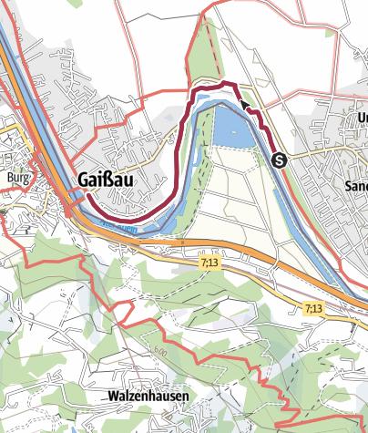 Karte / Am Eselschwanz – Spuren eines früheren Rheinlaufs