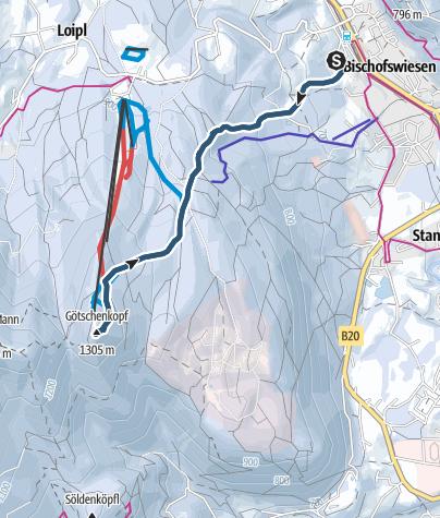 Karte / Götschen - Skitour mit Pistenabfahrt
