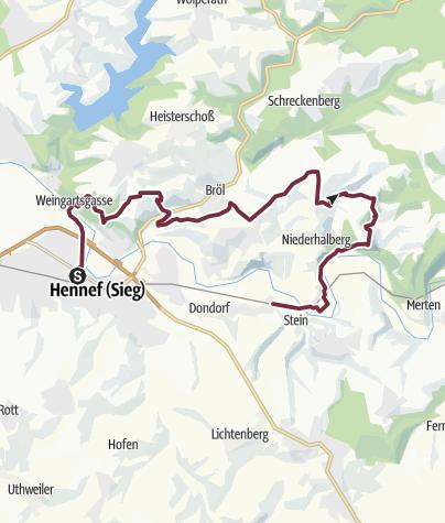 Karte / Natursteig Sieg Etappe 2