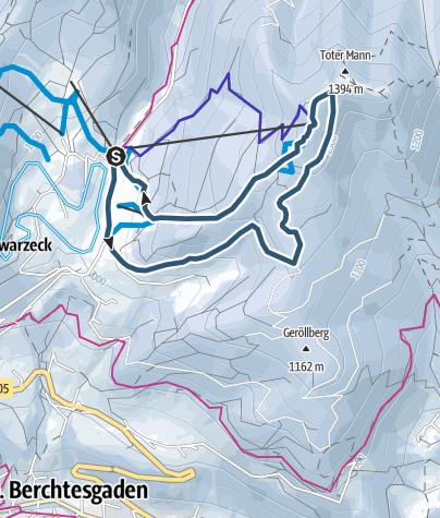 Karte / Hochschwarzeck - Skitour mit Pistenabfahrt