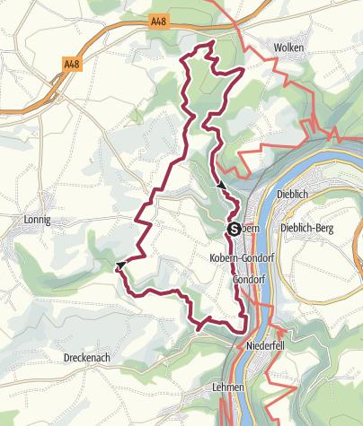 Karte / Traumpfad Koberner Burgpfad