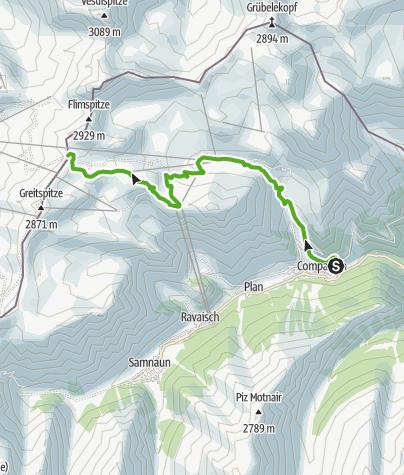 Map / Compatsch – Ausser Viderjoch