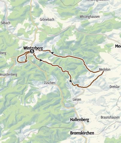Sauerland Karte Deutschland.Bike Arena Sauerland Durch Das Orketal Nr 8 Mountainbike