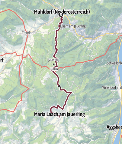 Map / Wachau World Heritage Trail 05: Mühldorf - Maria Laach