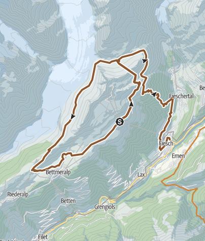 Mapa / Aletsch Arena MTB