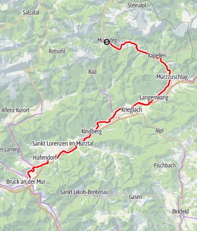 Karte / Mürztalradweg