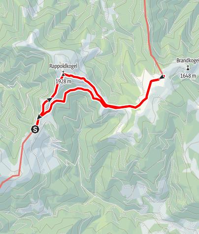 """Karte /  Vom Salzstiegl zum Alten Almhaus: """"Gipfelsieg am Rappold"""""""