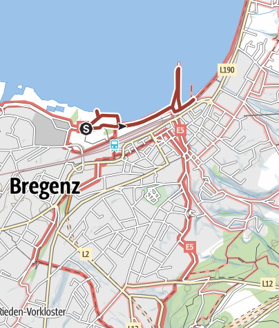 Karte / Barrierefrei: Bregenzer Seeschau – Zwischen Seebühne und Hafen