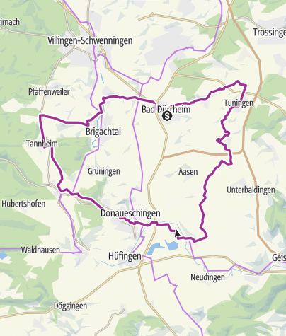 Karte / Sole-Route Bad Dürrheim