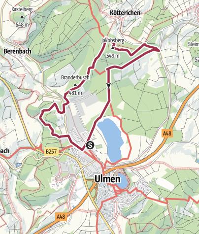 Karte / Hexen, Henker und Halunken Tour (Rundtour ab/bis Ulmen)