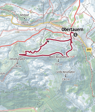 Karte / Obertauern - Gamsleitenspitze - Gamsspitzl