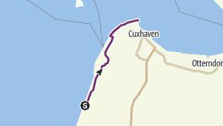 Map / Weser-Radweg, 15.Etappe: Von Dorumer Neufeld bis Cuxhaven