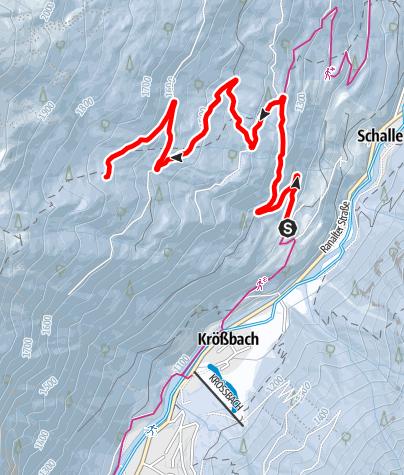 Karte / Rodelbahn Milderaun Alm