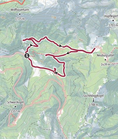 Karte / Johnsbacher Almenrunde