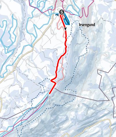 Karte / Oberreute - Grenzüberschreitender Winterwanderweg