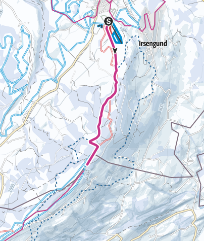 Map / Oberreute - cross-border winter hiking trail
