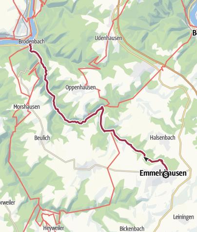 Karte / Ehrbachklamm