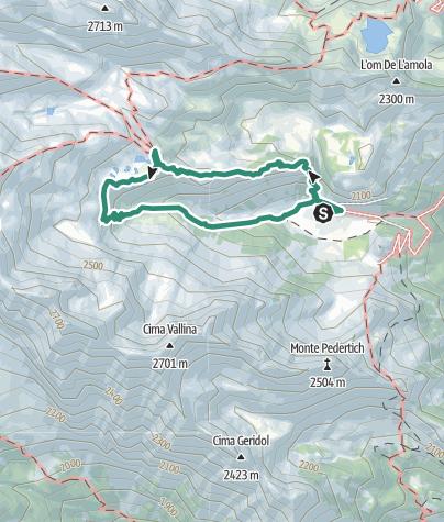 Karte / Rundwanderung zur Berghütte Segantini