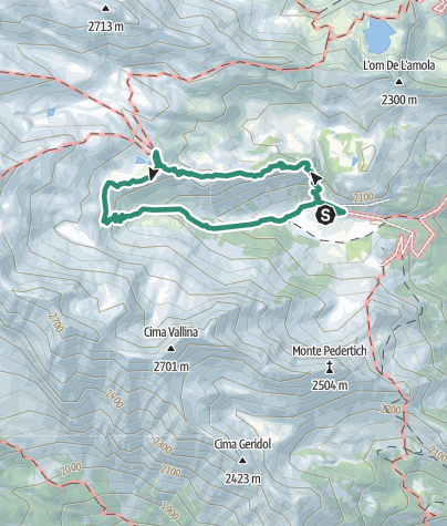 Map / Trek ring to Rifugio Segantini