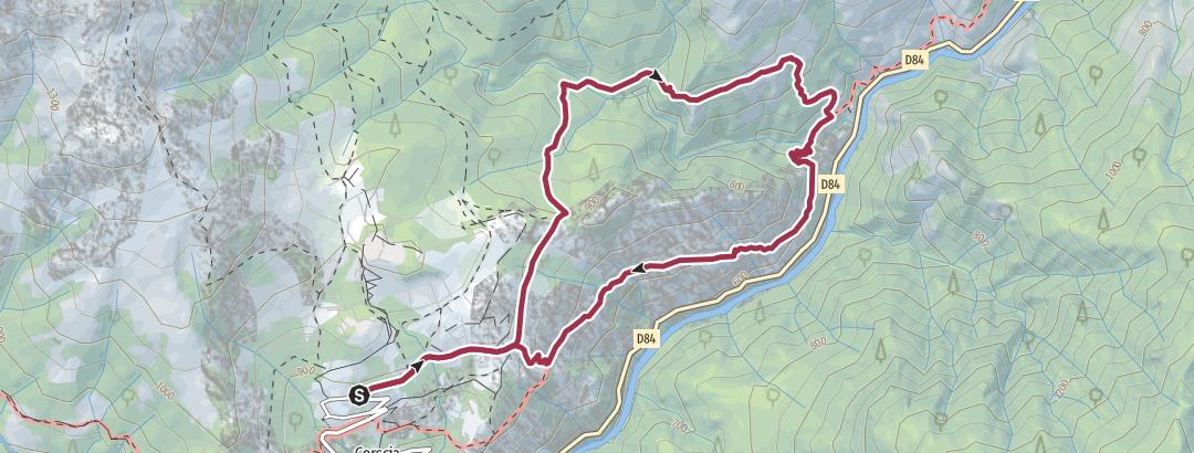Karte / Durch die Scala di Santa Regina