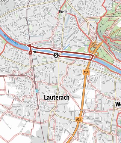 Karte / Barrierefrei: An der Bregenzerach – Der Uferrundweg Lauterach-Rieden