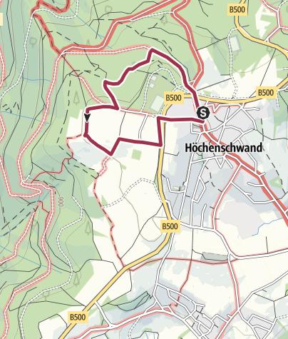 Karte / Höchenschwand: Heilklima-Wanderweg 2