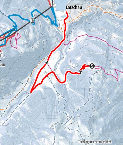 Karte / Von Grabs über die Volspora nach Latschau