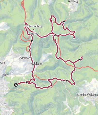 Karte / Gipfelwanderweg