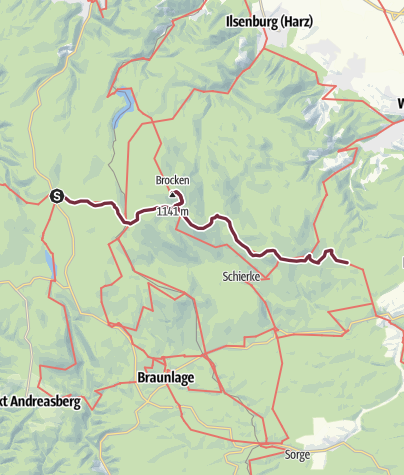 Karte / Harzer-Hexen-Stieg - 3. Etappe - von Torfhaus nach Drei Annen Hohne