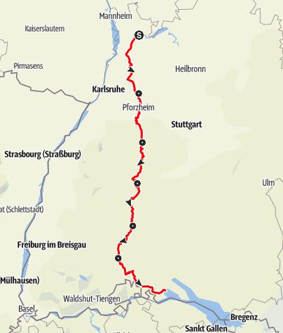 Heidelberg Schwarzwald Bodensee Radweg Fernradweg Der Offizielle