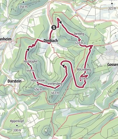 Karte / Dimbacher Buntsandstein Höhenweg