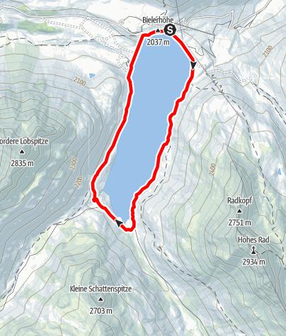 Karte / Silvrettasee Uferrunde