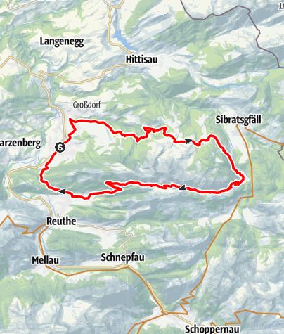 Karte / Andelsbuch | Rund um die Winterstaude