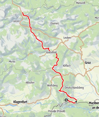 Karte / Via Alpina durch die Steiermark