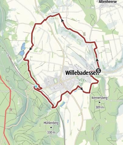 Karte / Hermannshöhen Tourentipp 15: / Erlesene Natur: Der Schmetterlingspfad bei Willebadessen