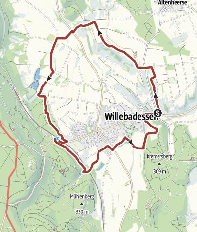 "Kaart / Hermannshöhen Tourtip 15: ""Erlesene Natur"": Geitenhoedersweg & vlinderpad"