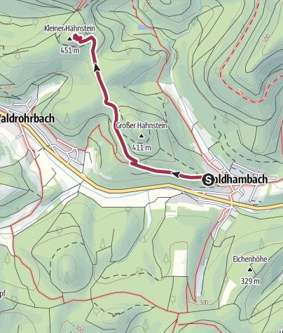 Mapa / Kleiner Hahnstein