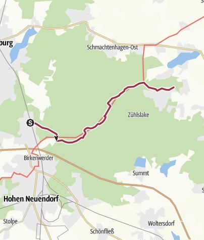 Map / Im Tal der Briese von Borgsdorf nach Zühlsdorf