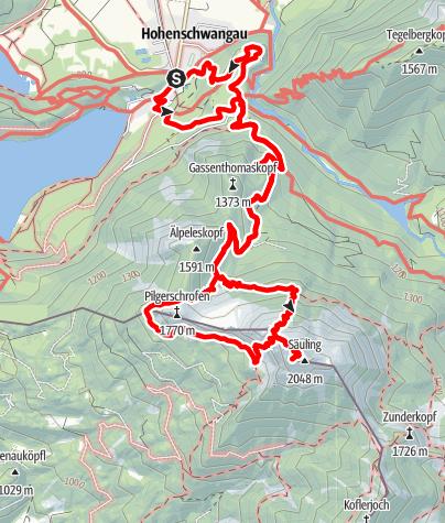 Karte /  Säuling (2047 m)
