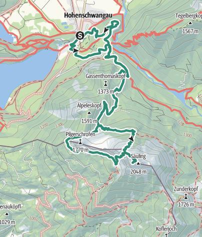 Map /  Säuling (2047 m)