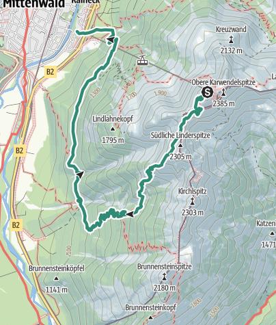 Map / Auf dem Heinrich-Noe-Steig zur Brunnsteinhütte