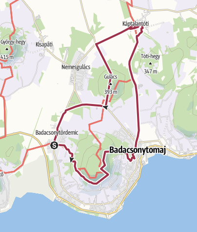 Karte / Gulácser Tour (Region Balaton)
