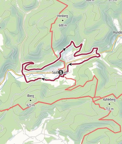 Karte / Saalhausen: Rundwanderweg Saalhausen